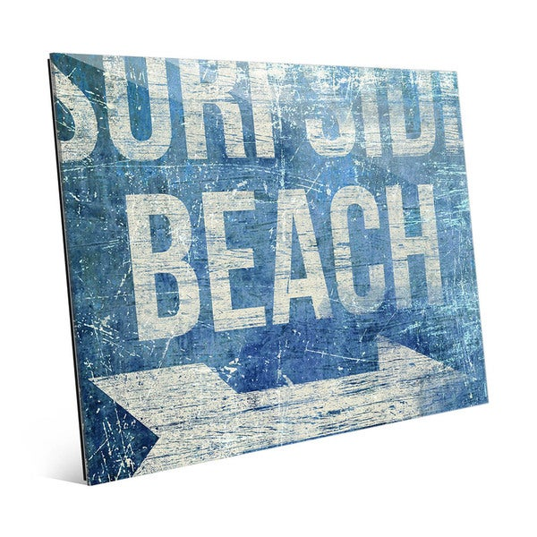 'Surfside Beach - Blue' Acrylic Wall Art