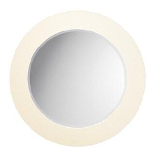 Matte White Round Mirror