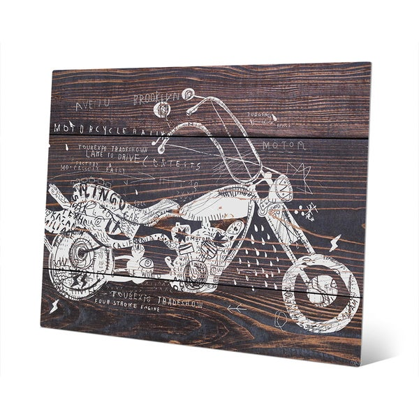 Shop Dark Wood Motorcycle Metal Wall Art - On Sale - Free Shipping ...