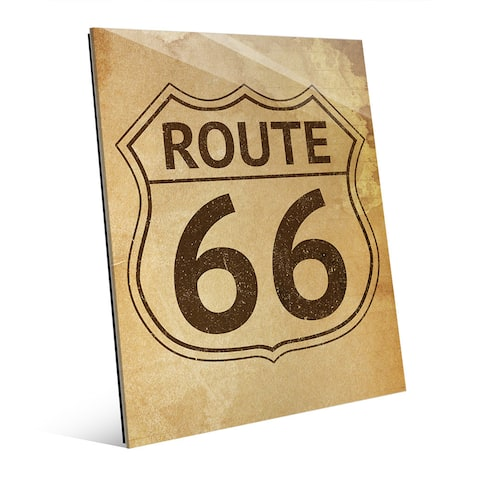 'Route 66 Stained' Glass Wall Art