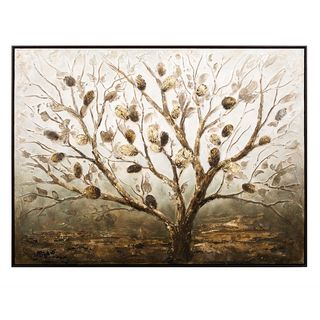 Banyan Oil Painting with Frame (36.25 inchew long x 48 inches high x 2.25 inches wide)