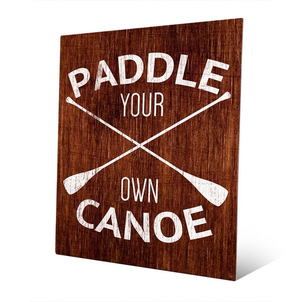 'Paddle Your Own Canoe' Multicolored Metal Rustic Wall Art
