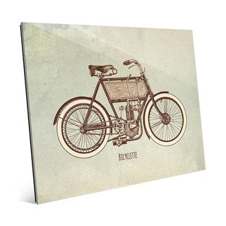 'Bicyclette' Glass Wall Art