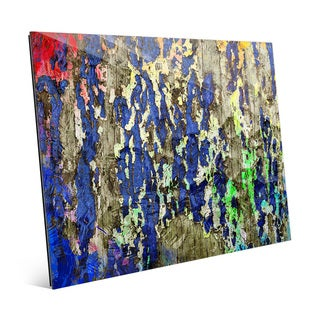 'Peeling Hues' Glass Wall Art