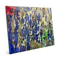 'Peeling Hues' Glass Wall Art