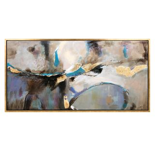 Maison Framed Oil Painting (61.75 inches long x 32 inches high x 1.5 inches wide)