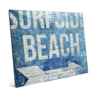 'Surfside Beach Blue' Glass Wall Art