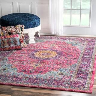 nuLOOM Traditional Persian Vintage Fancy Pink Runner Rug (2'8 x 8')