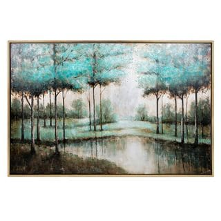 Verdigis Wonder Framed Oil Painting (41.75 inches long x 62 inches high x 1.5 inches wide)