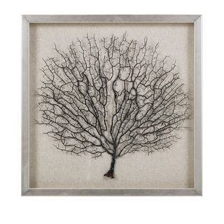 Bodaway Coral in Shadowbox with Frame (19.75 inches long x 19.75 inches high x 1.5 inches wide)