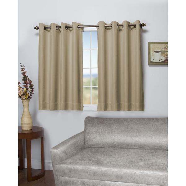Tacoma Latte Double Blackout Short Length Grommet Curtain