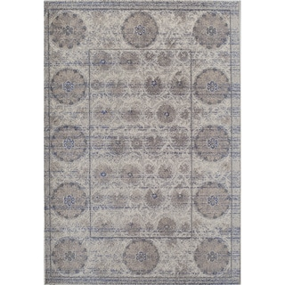 Woven Accents Mason Collection Raferty Ivory/Grey Polypropylene Power-loomed Rug (5'3 x 7'6)