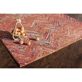 Woven Accents Mason Rust-colored Polypropylene Power-loomed Rug (5'3 x 7'6)