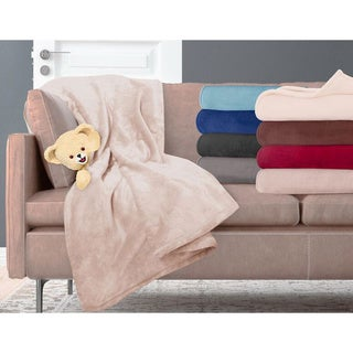 Snuggle Ultra Lux Microplush Solid Color Throw