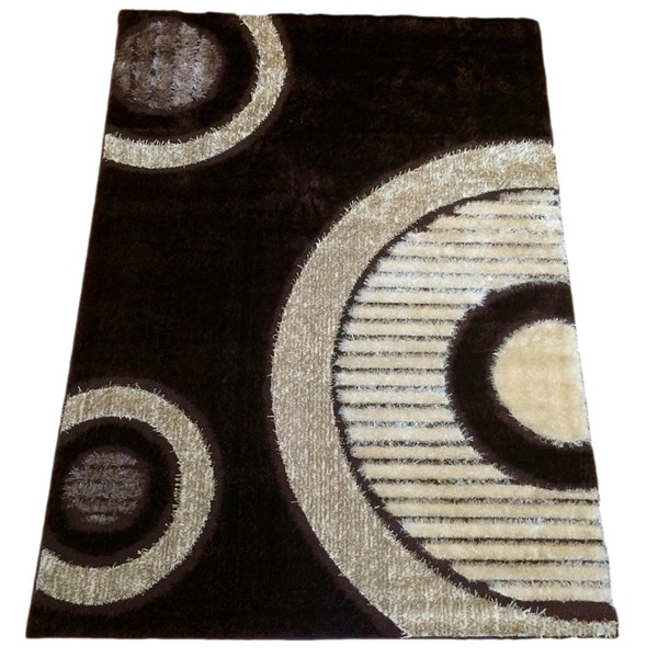 "Rya Brown Polypropylene Machine-made Area Rug - 7'10"" x 10'2"""