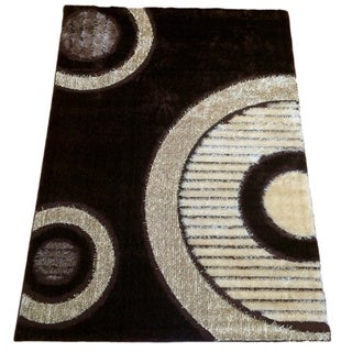 Rya Brown Polypropylene Machine-made Area Rug (8'0 x 11'0)