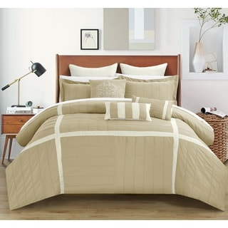 Chic Home Helena Taupe Comforter 12-Piece set