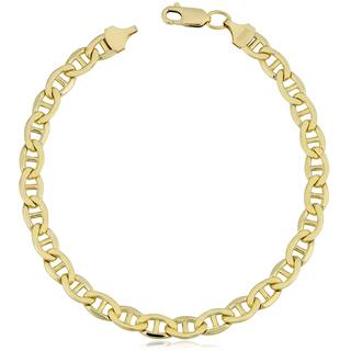 Fremada 14k Yellow Gold Filled 5.9-mm Mariner Link Chain Men's Bracelet (8.5 inches) https://ak1.ostkcdn.com/images/products/12874383/P19635086.jpg?impolicy=medium