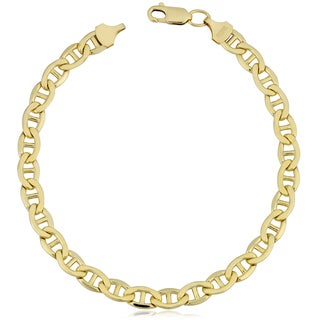 Fremada Yellow Gold Filled 5.9-mm Mariner Link Chain Men's Bracelet (8.5 inches)