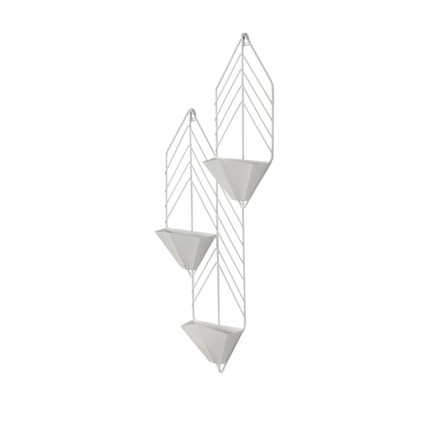Kate and Laurel Tain Metal Geometric Wall Hanging Planter with 3 Pockets