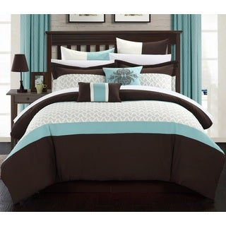 Chic Home Luana Brown Comforter 8-Piece Set