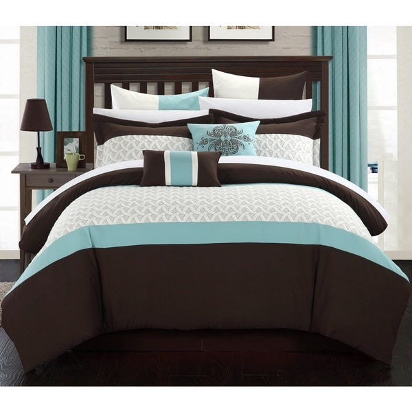 Chic Home Luana Bed-In-A-Bag Brown Comforter 12 Piece Set