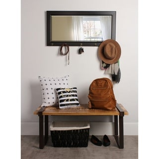 The Gray Barn Victorville Pub Mirror with 5 Metal Hooks