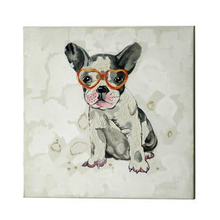 Jeco 'Playful Puppy with Glasses' 20-inch Canvas Art