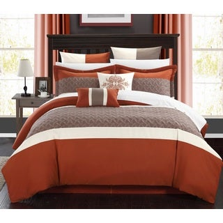 Chic Home Luana Brick Comforter 8-Piece Set