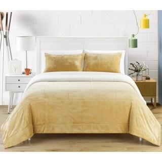 Chic Home Ernest 3-Piece Camel Sherpa Blanket