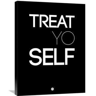 Naxart Studio 'Treat Yo Self Poster 1' Stretched Canvas Wall Art