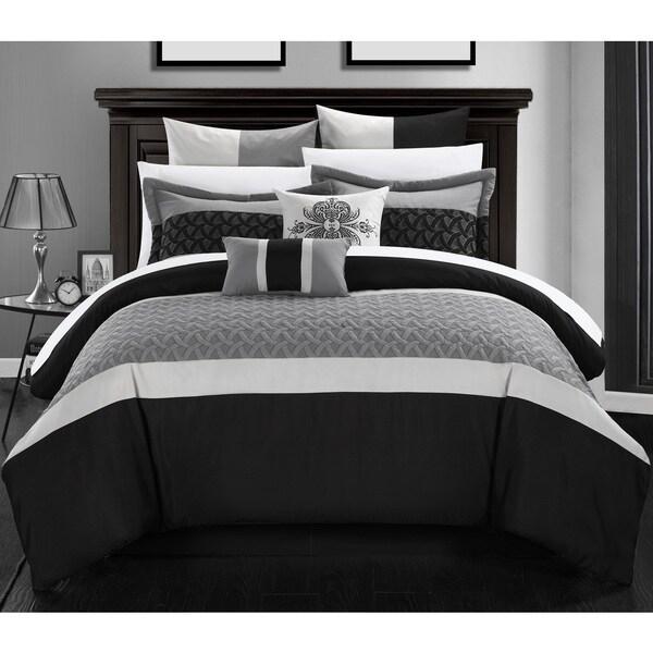 Chic Home Luana Black Comforter 8-Piece Set