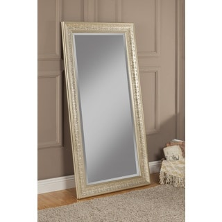 sandberg furniture peyton gold tonesilvertone full length antique style mirror