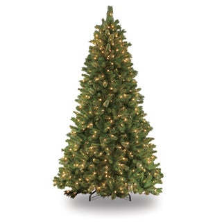 Puleo International Teton Pine 7.5' Pre-lit Artificial Christmas Tree with 600 Clear UL-listed LIghts