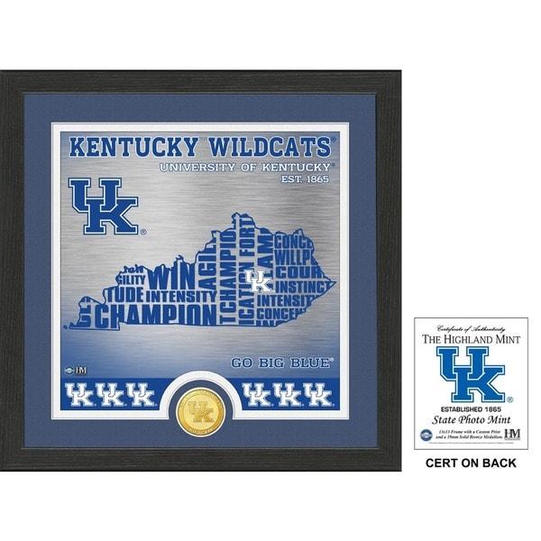 "University of Kentucky ""State"" Bronze Coin Photo Mint"