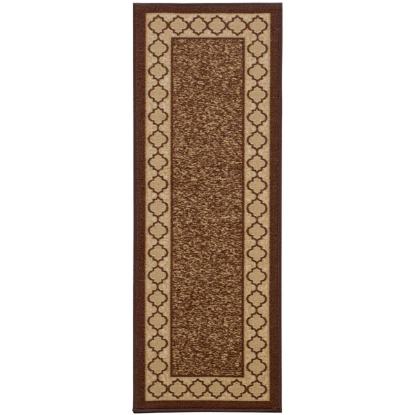 Anne Collection Beige Sand Synthetic Moroccan Trellis