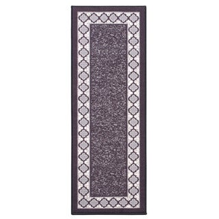 Anne Collection Charcoal Moroccan Trellis Design Modern Non-Skid Rug Runner (2'2 X 6'0)