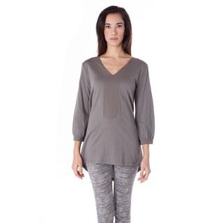 AtoZ Women's Women's Cotton 3/4 Sleeve Tunic