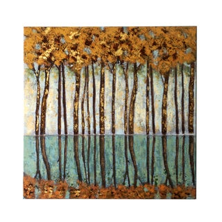 Jeco 'Golden Forest' Canvas 40-inch Wall Art