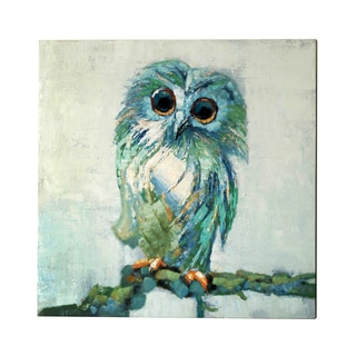 Jeco 'Blue Owl' 30-inch Canvas Wall Art