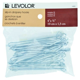 Levolor Slip In Drapery Hooks 14-count
