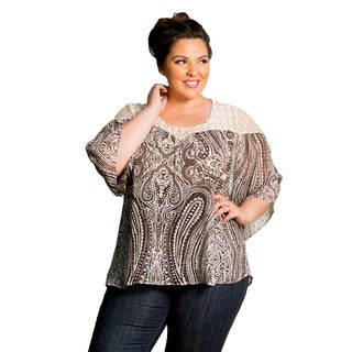 Sealed with a Kiss Women's Plus Size Zara Chiffon Top