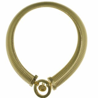 Isla Simone - Gold-Plated Linked Collar Necklace