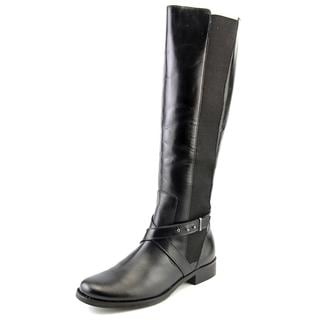 Steven Steve Madden Women's Sydnee Black Leather Boots