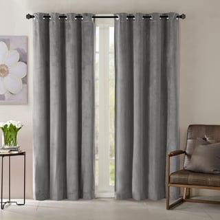 Madison Park Yvette Lined Velvet Single Window Panel Curtain