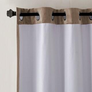 Madison Park Yvette Lined Velvet Window Panel Curtain