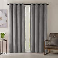 Madison Park Yvette Lined Velvet Single Window Panel Curtain