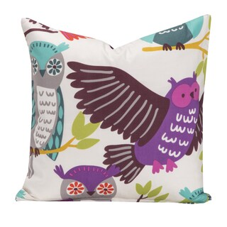 Crayola Owl Always Love You Multicolor Polyester Decorative Throw Pillow