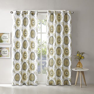 Intelligent Design Elise 2 Layers Printed Window Curtain