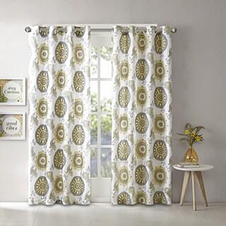 Intelligent Design Elise 2 Layers Printed Window Curtain